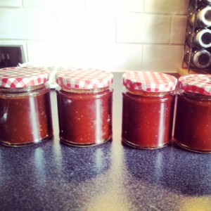 Asian Chilli Jam (at this point I'll be honest and say I had no idea how hot the chilli's had made it - I advise tasting as you go!)