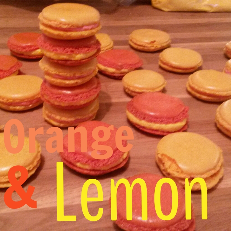 Orange and Lemon Macarons