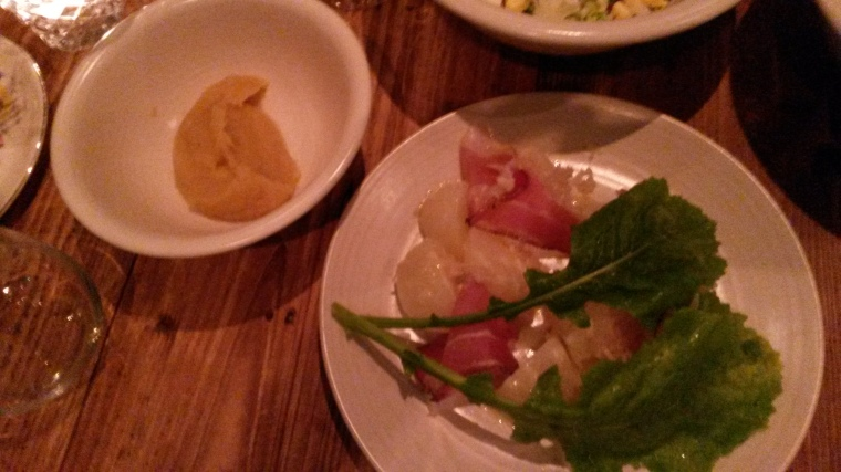 Tokyo turnips and country  ham salad