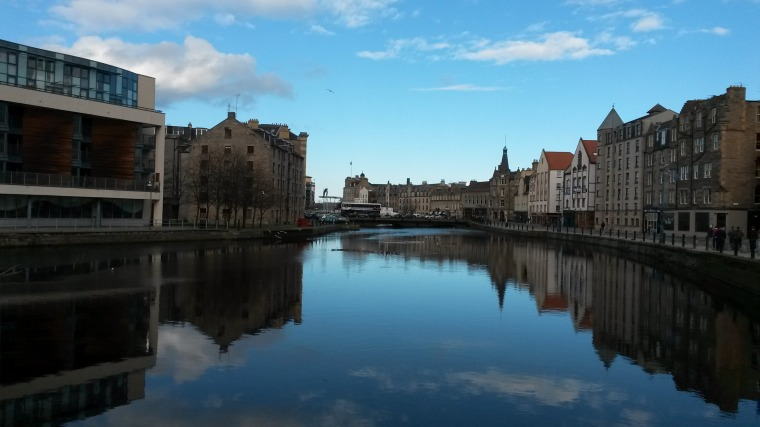Arriving down at The Shore, Leith