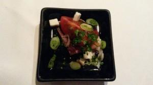Tomato and serrano ham