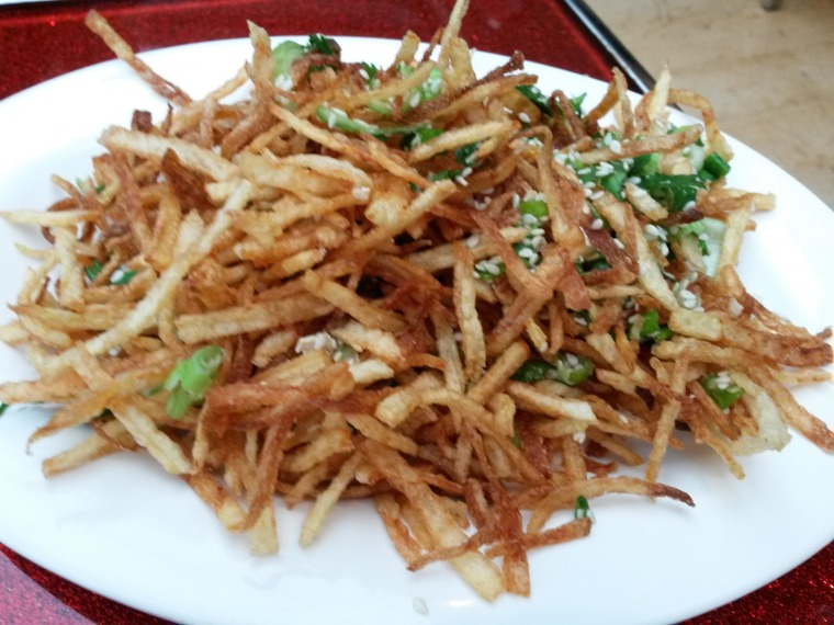 Crispy shredded potato
