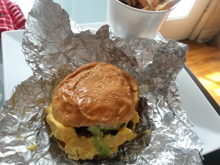 Five guys burger whole