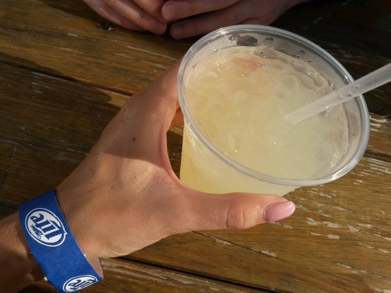 Vodka lemonade in the sun