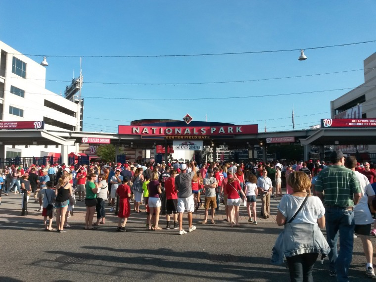 Approaching nationals park DC