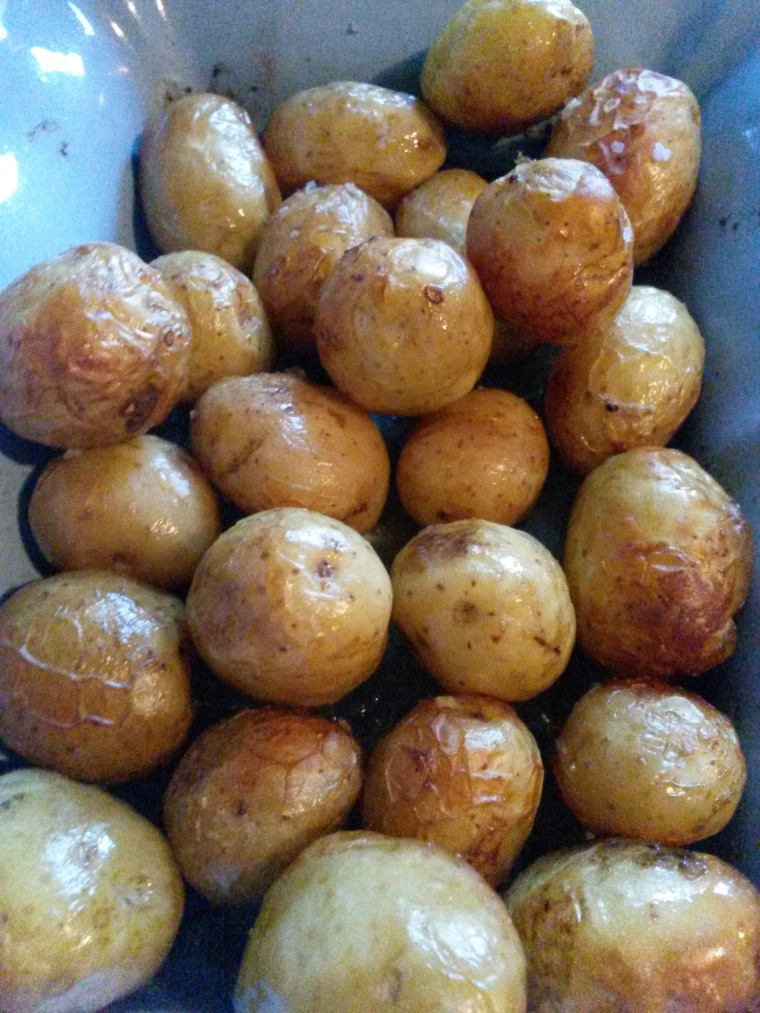 roast potatoes close up