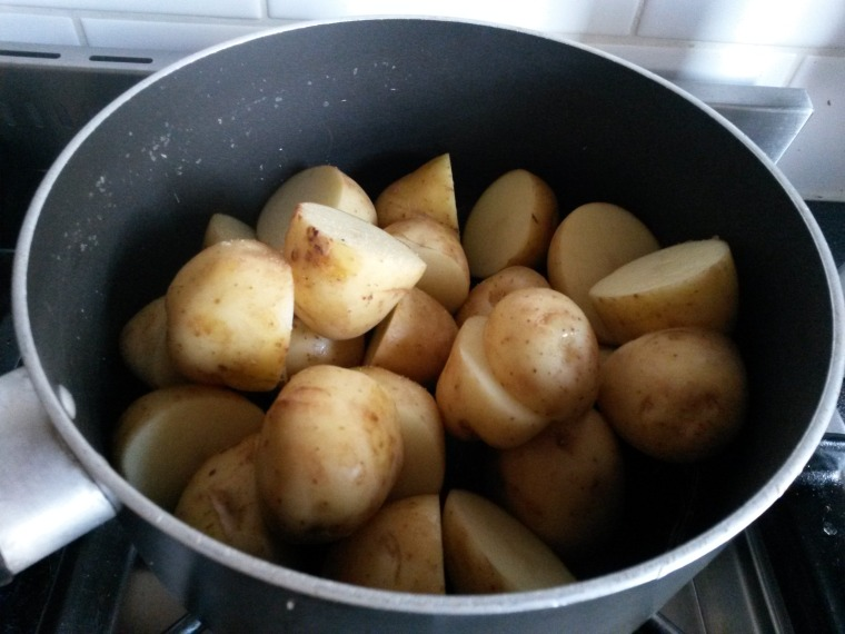 potatoes ready to boil
