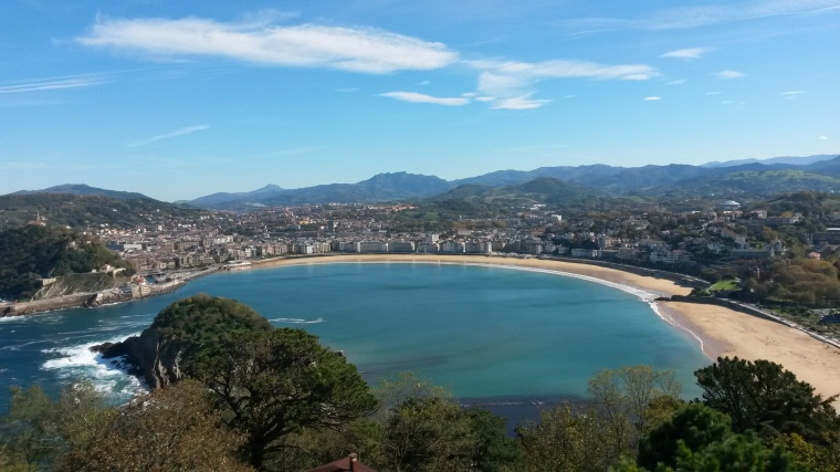 San Sebastian view from funicular