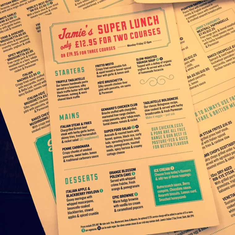 Super Lunch Menu