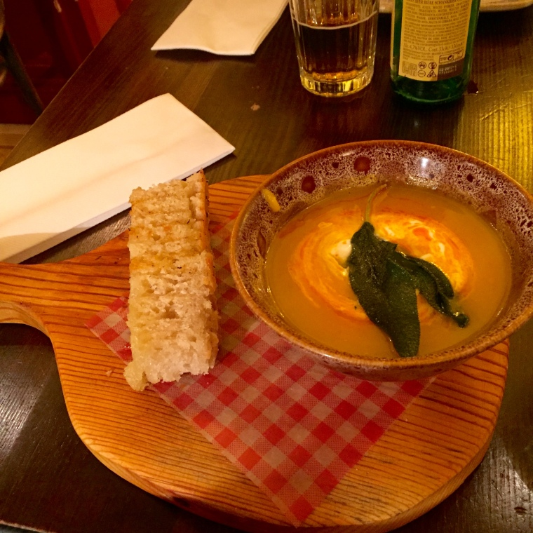 Roasted Squash Soup with Toasted Focaccia