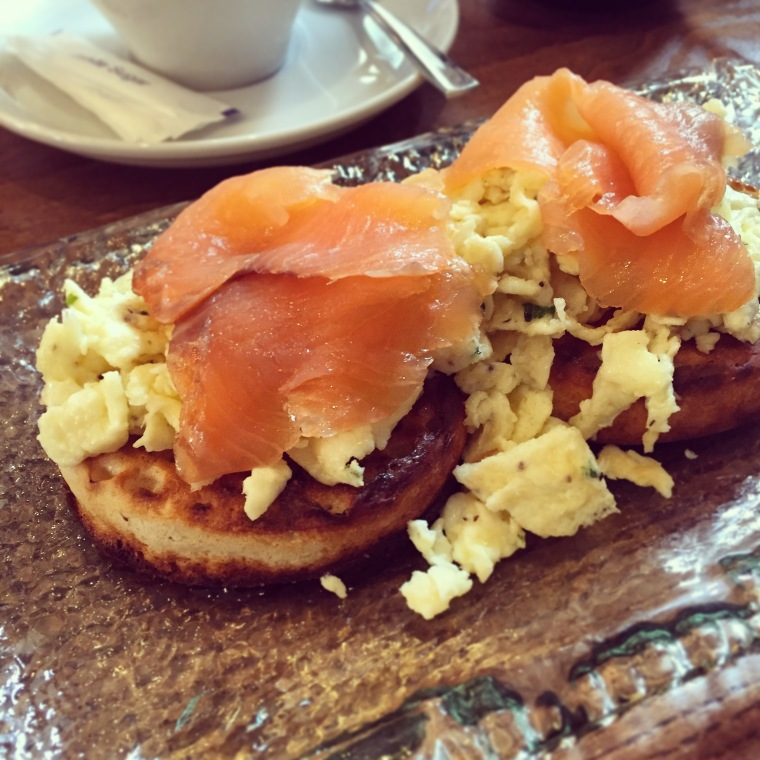 Smoked Salmon & Toasted Crumpets
